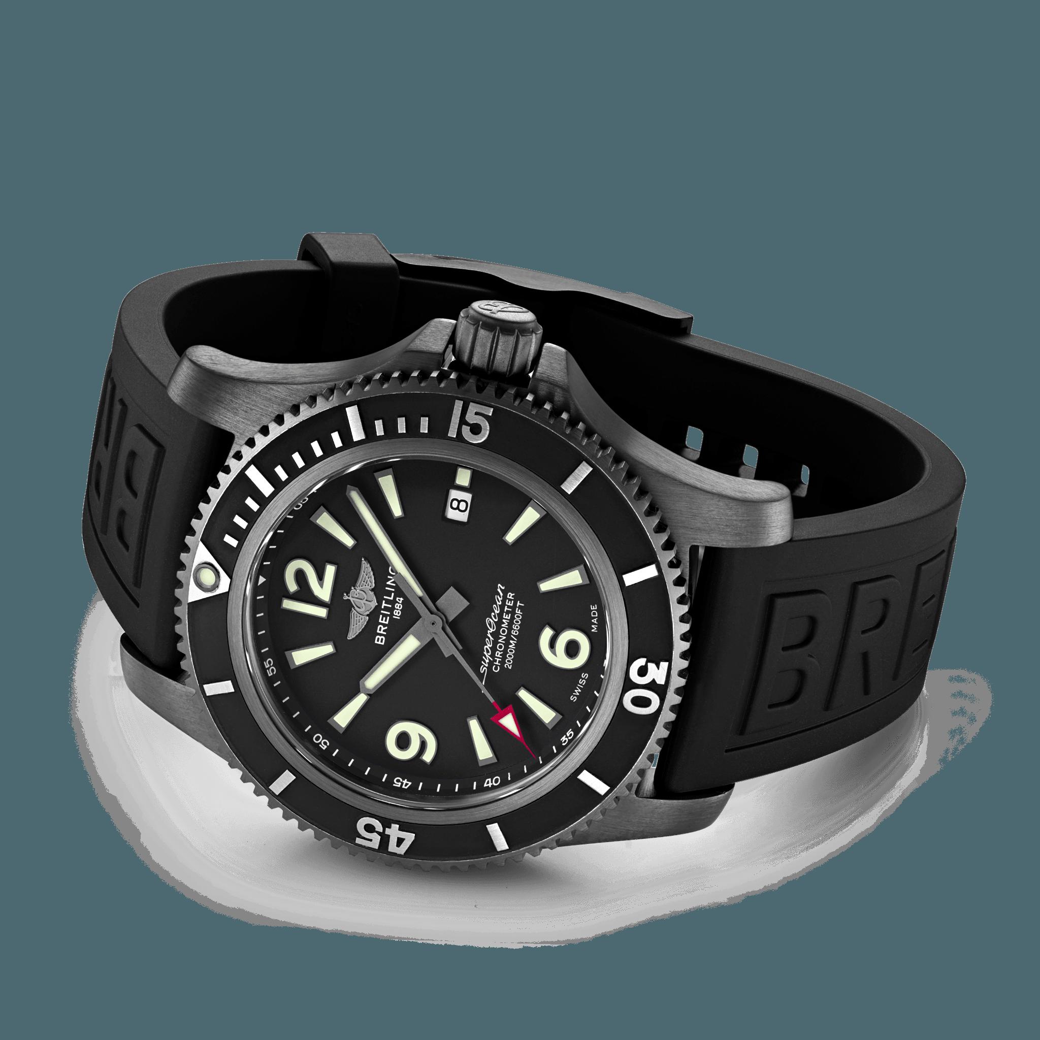 Breitling Superocean Automatic 46mm Black Steel Ref. m17368b71b1s1